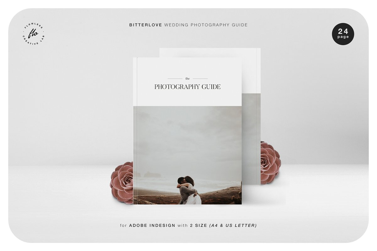 唯美婚纱摄影杂志画册展示模板BITTERLOVE Wedding Photography Guide