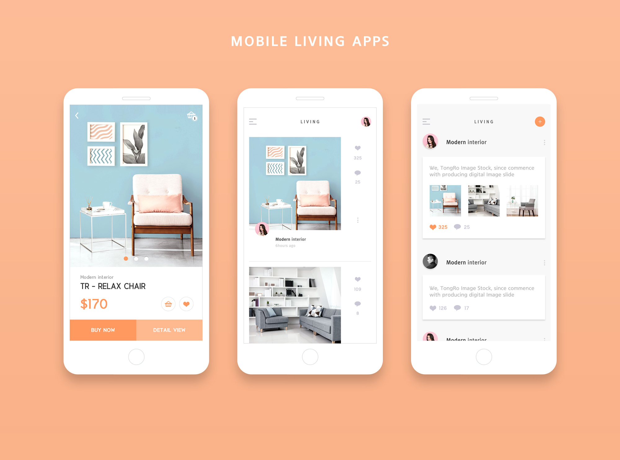 简约扁平风家居 Home  Mobile living App