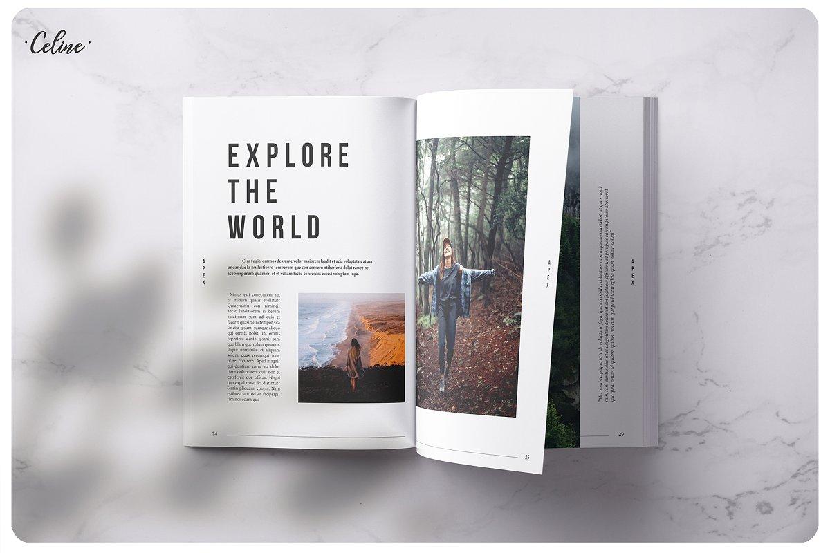 旅游摄影画册模板APEX Traveling Lookbook Template