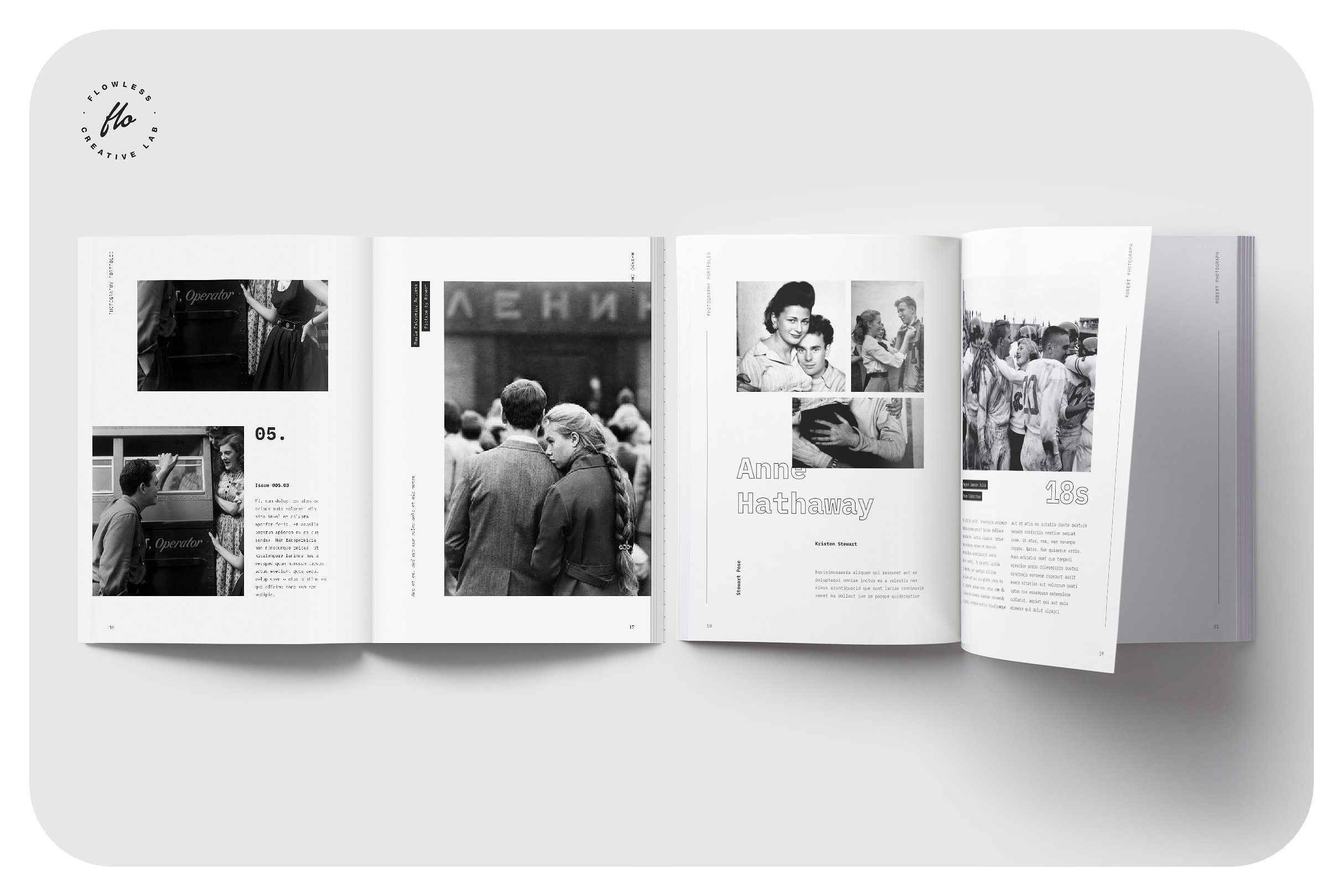 怀旧历史黑白画册模板 VICTORIA Vintage Photo Collection Indesign Album Template