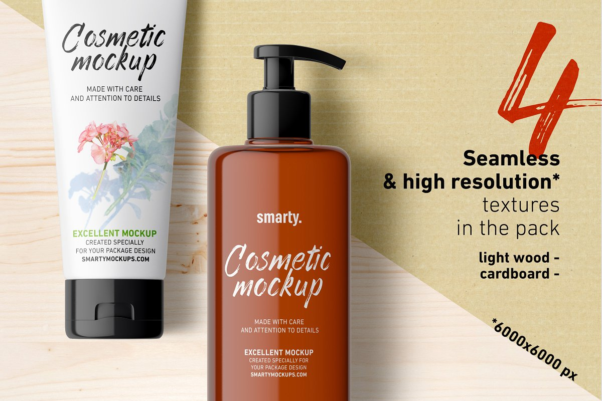 洗化用品样机Cosmetic Mockups Bundle Pack