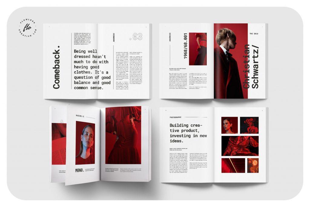 现代风杂志画册模板 STRANGE Modern Magazine Lookbook(1)