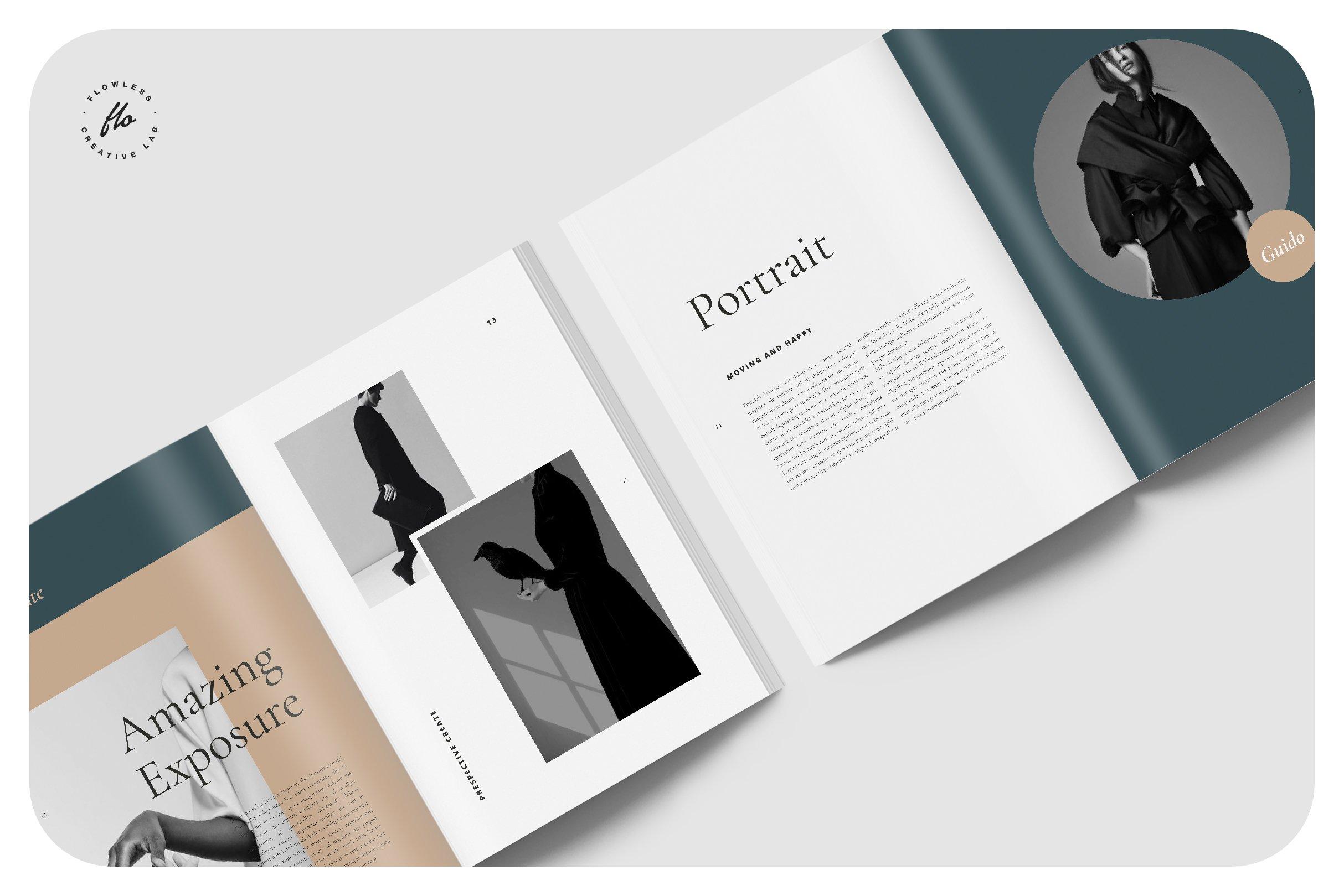 黑色系大牌风服装画册展示模板 MOMENT Photography Portfolio