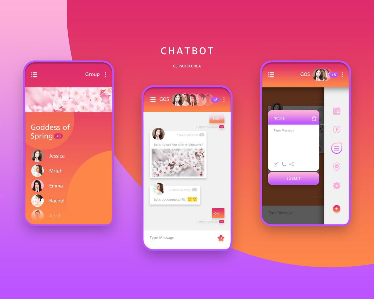 扁平化聊天通讯APP chatbot2
