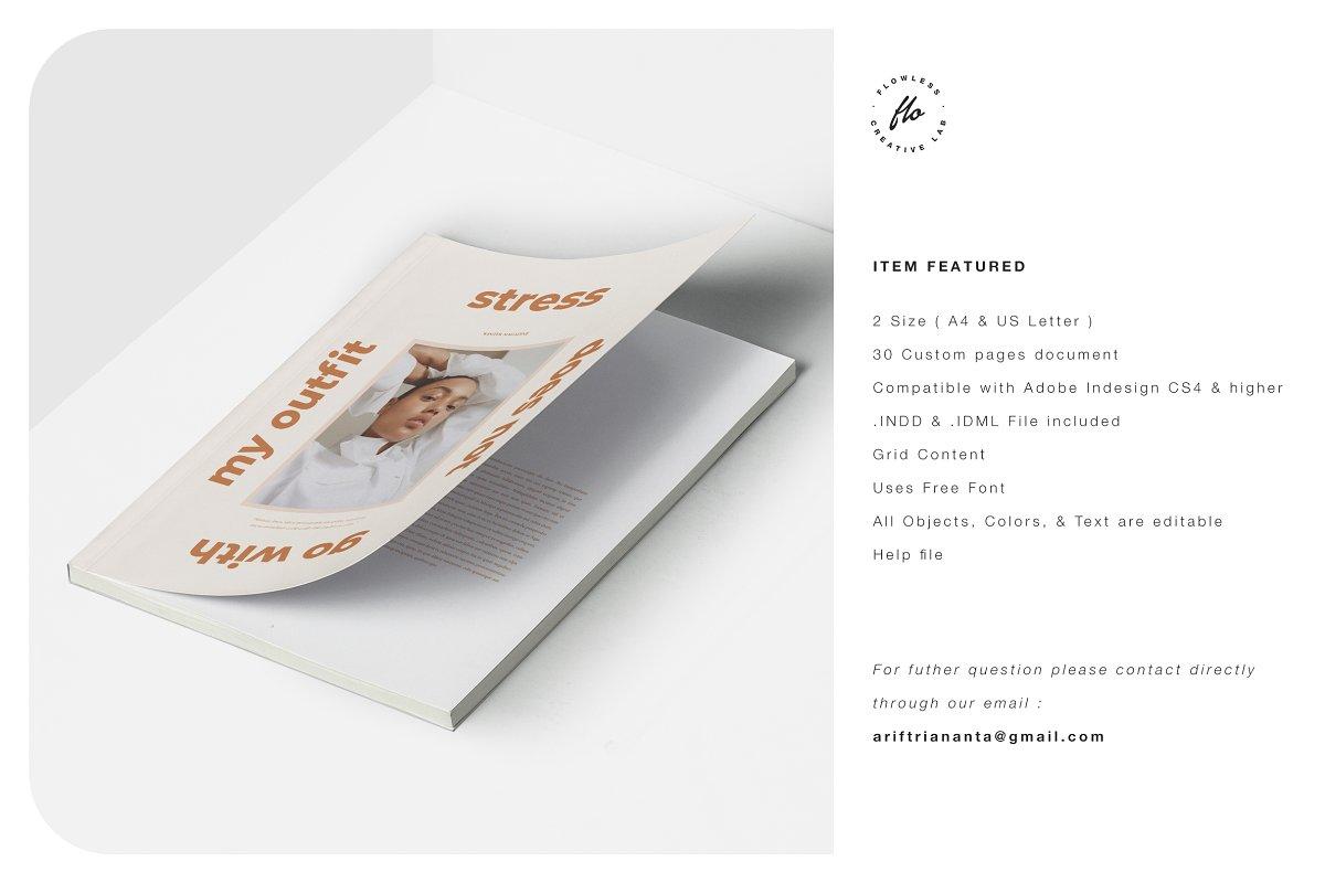 潮流女士服装设计画册模板WINTER_Outfit_Editorial_Lookbook