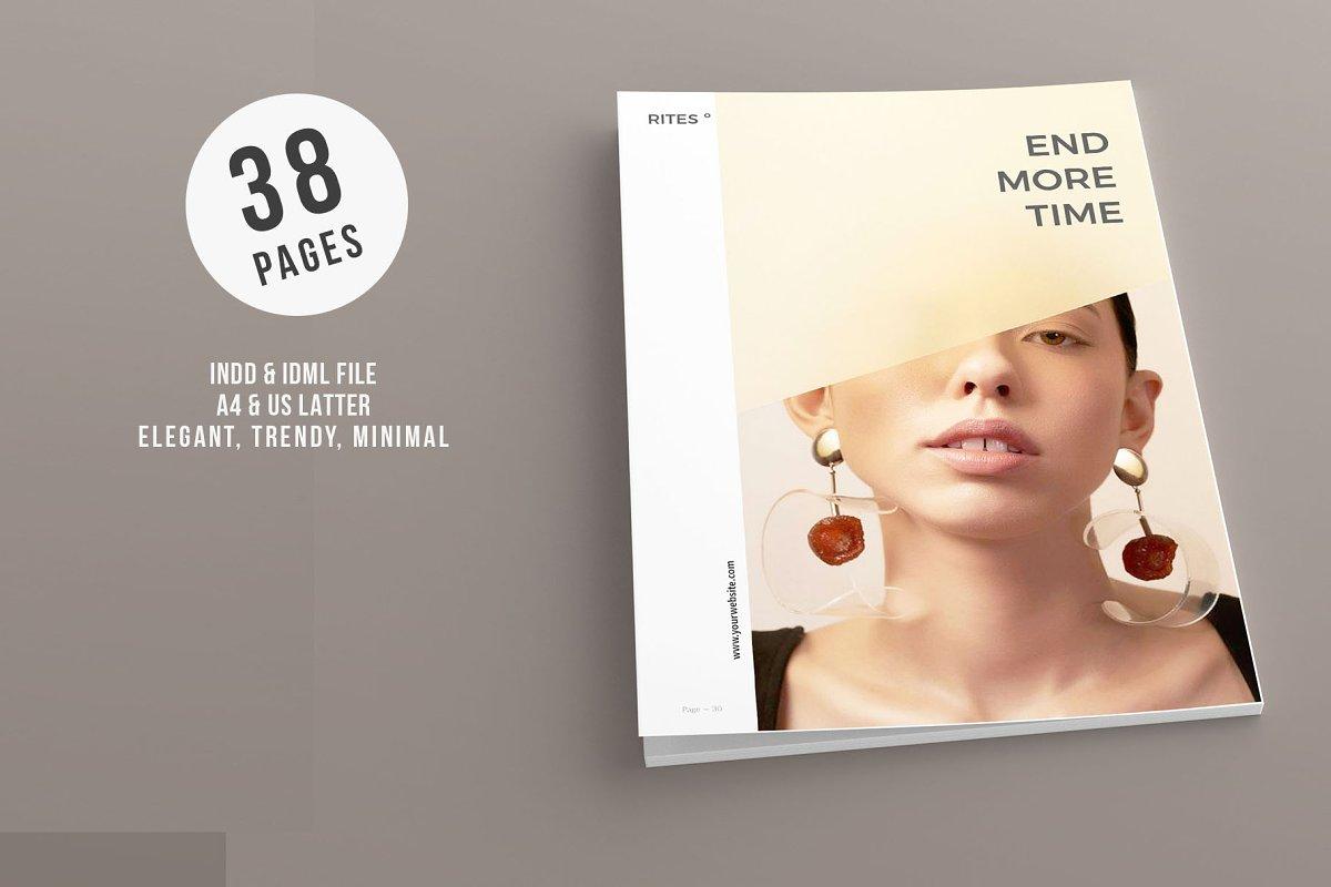 唯美摄影画册杂志模板RITES MAGAZINE
