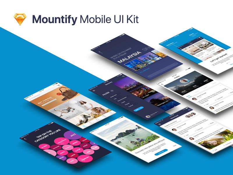 多款国外扁平风电商Mountify移动端APP