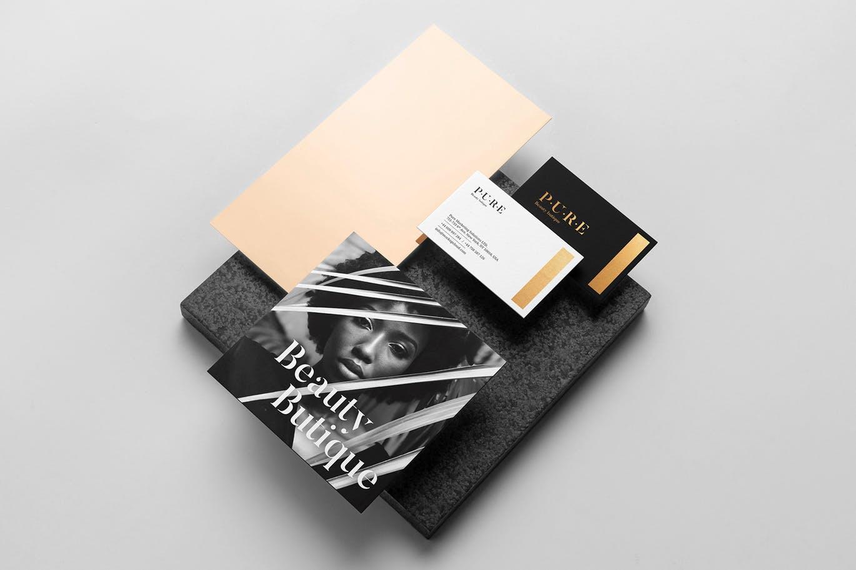 (精品)经典配色轻奢质感房地产VI品牌设计样机展示模型pure branding mockup vol 2插图(11)