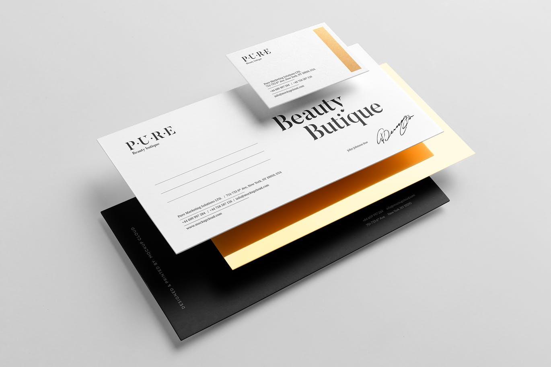 (精品)经典配色轻奢质感房地产VI品牌设计样机展示模型pure branding mockup vol 2插图(2)