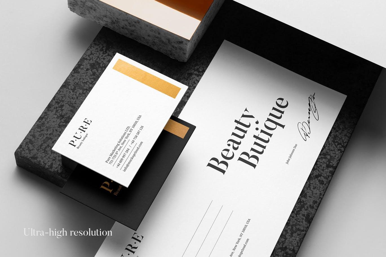 (精品)经典配色轻奢质感房地产VI品牌设计样机展示模型pure branding mockup vol 2插图(7)