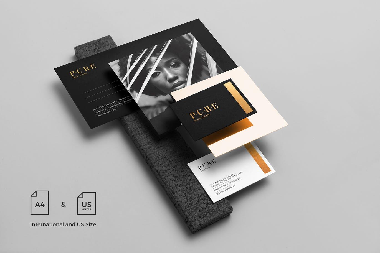 (精品)经典配色轻奢质感房地产VI品牌设计样机展示模型pure branding mockup vol 2插图(8)