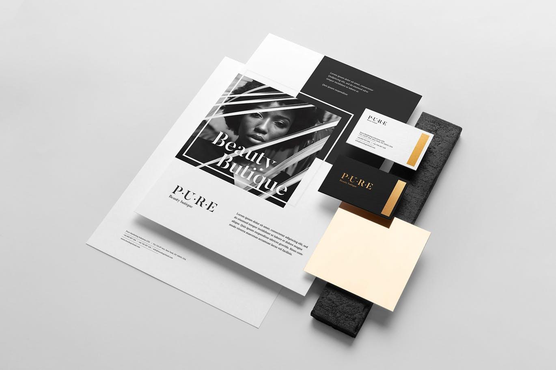 (精品)经典配色轻奢质感房地产VI品牌设计样机展示模型pure branding mockup vol 2插图(9)