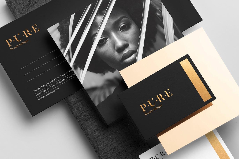 (精品)经典配色轻奢质感房地产VI品牌设计样机展示模型pure branding mockup vol 2插图