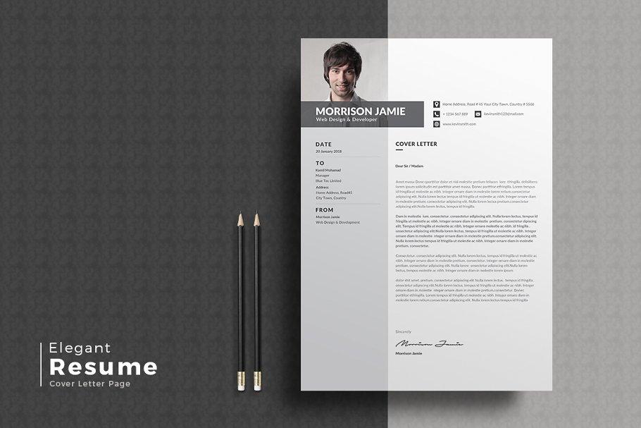 职场经典黑白简历模板Resume/CV