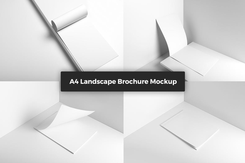 景观宣传册样机  模板素材展示效果图Landscape Brochure Mockup