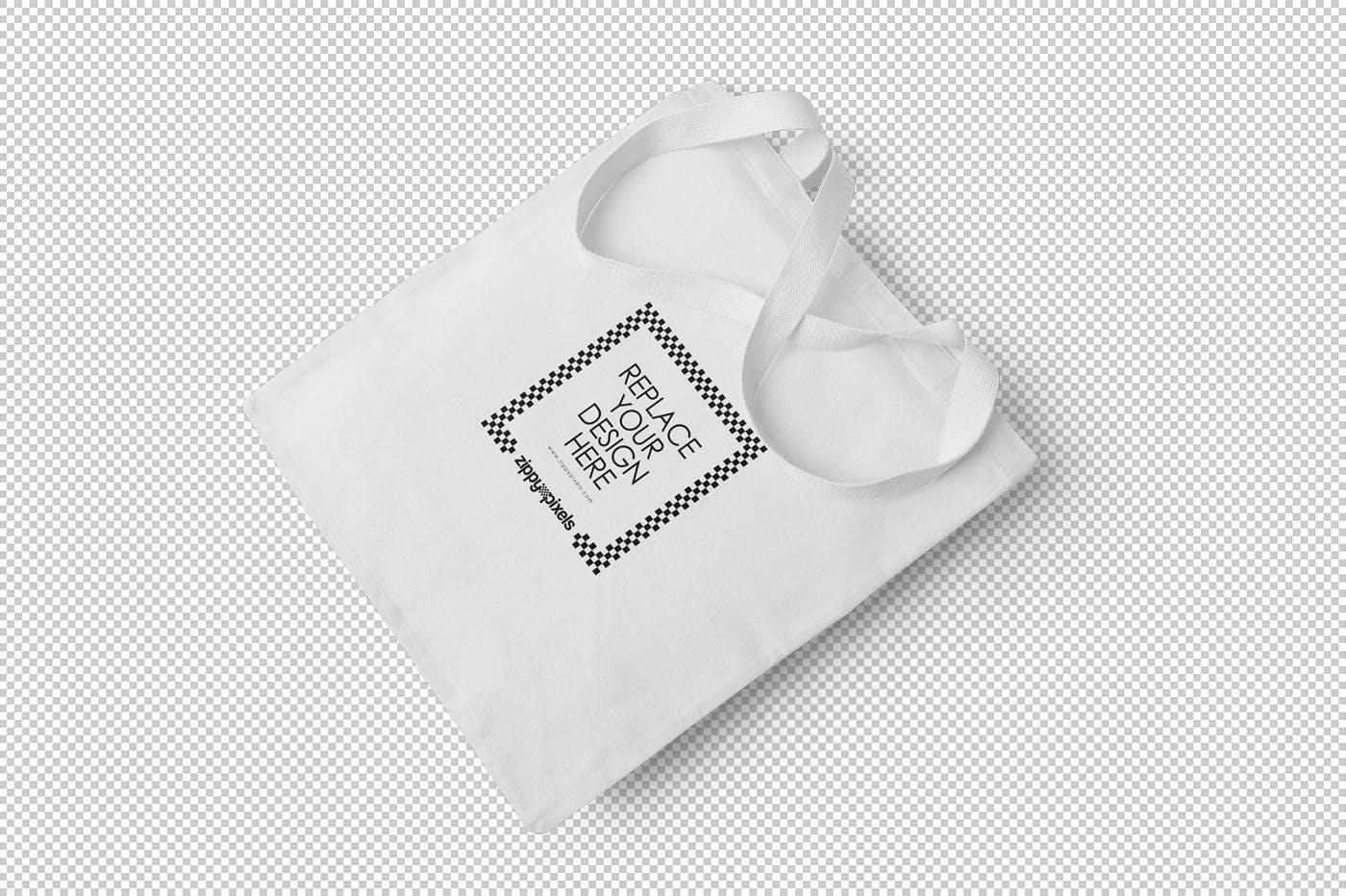 布艺手提袋子购物袋  样机素材模板展示Cotton Tote Bag Mockups