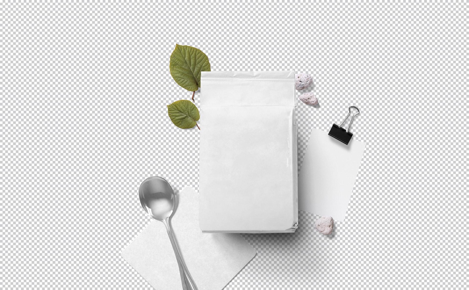 自封袋包装袋样机智能贴图样机Packaging Pouch Mockup