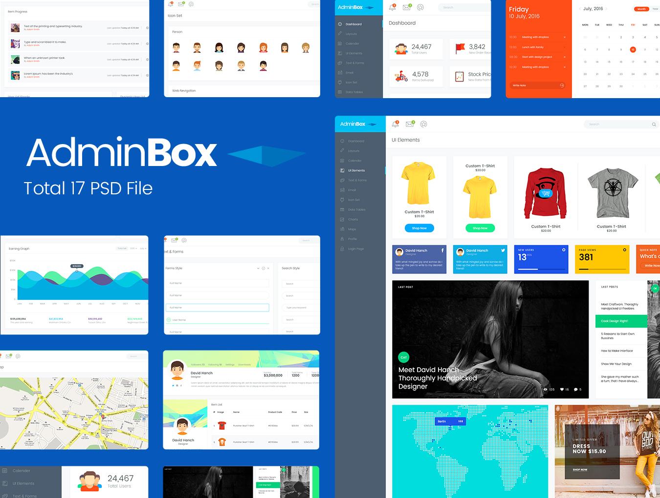 WEB端电子商务购物系统UI Adminbox Admin Dashboard