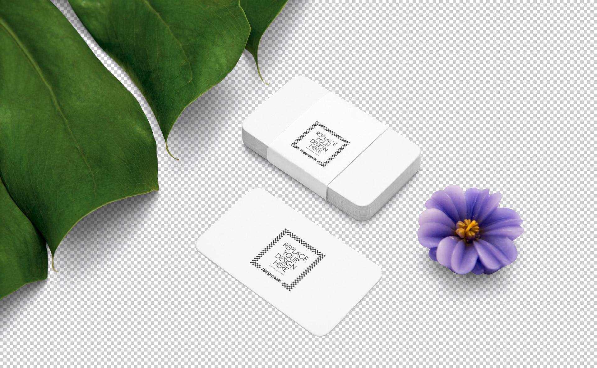 精致叠加名片标签样机Business Card Mockup PSD