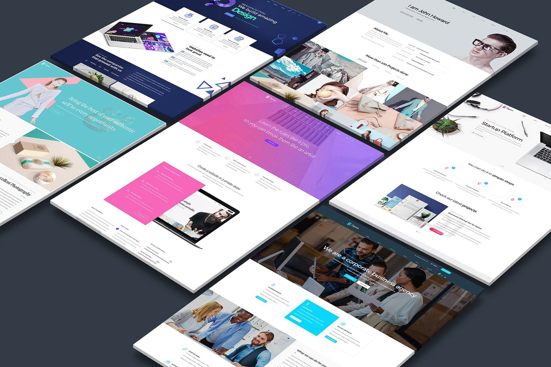 一组WEB端透视网站样机3.0