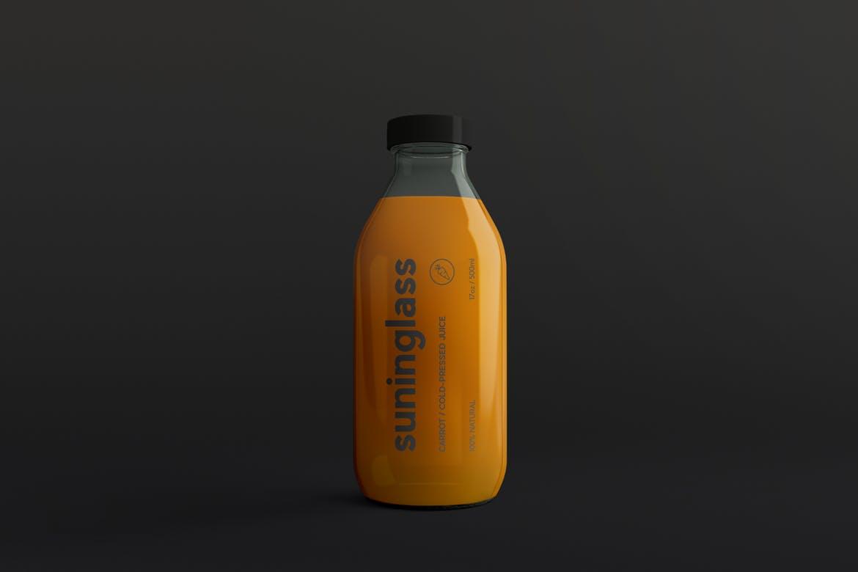果蔬料理样机瓶包装样机  素材样机智能贴图样机Juice Bottle Packaging Mock-Ups Vol.2