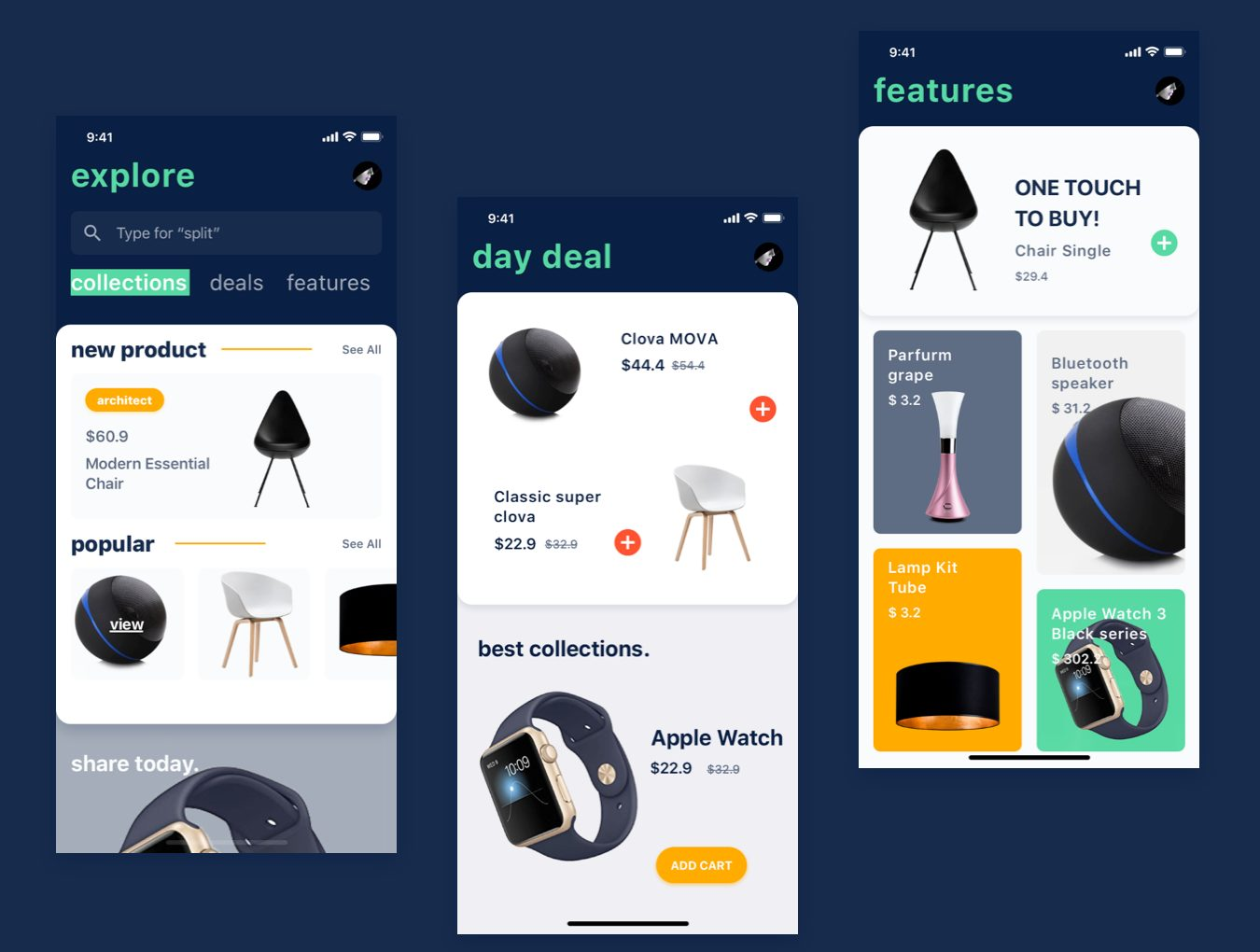 IOS11风格简约电商购物APP NENO App UI Kit