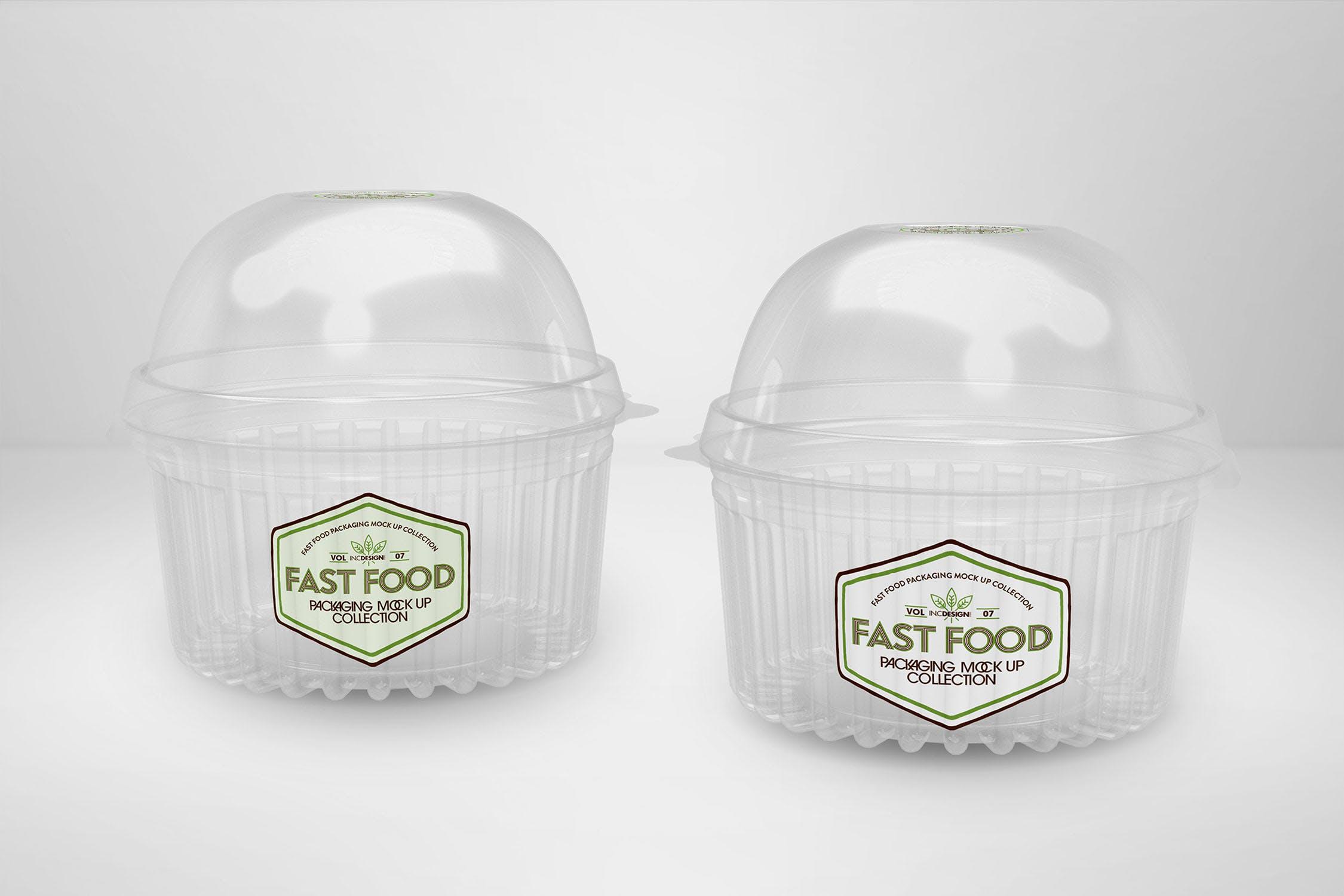 多品类快餐盒  甜点模板样机素材展示Fast Food Boxes Vol 7 Take Out Packaging Mockups插图(1)