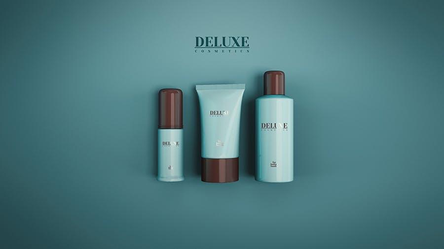 时尚高端洗化用品女性高端化妆品VI样机展示模型cosmetic-mock-up-2-