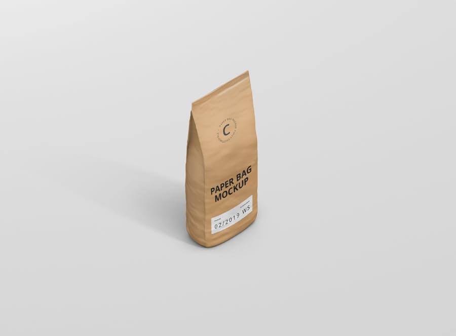 牛皮纸自封袋智能贴图PSD样机paper-bag-mockup-2