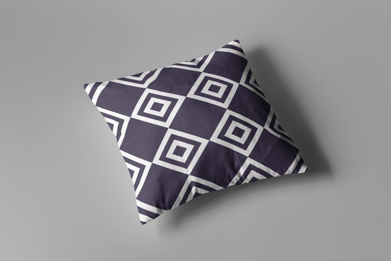 高端逼真质感的枕头抱枕设计VI样机展示模型mockups
