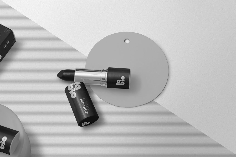 唇膏口红包装设计VI样机智能贴图psd展示模型matte-lipstick-mockups
