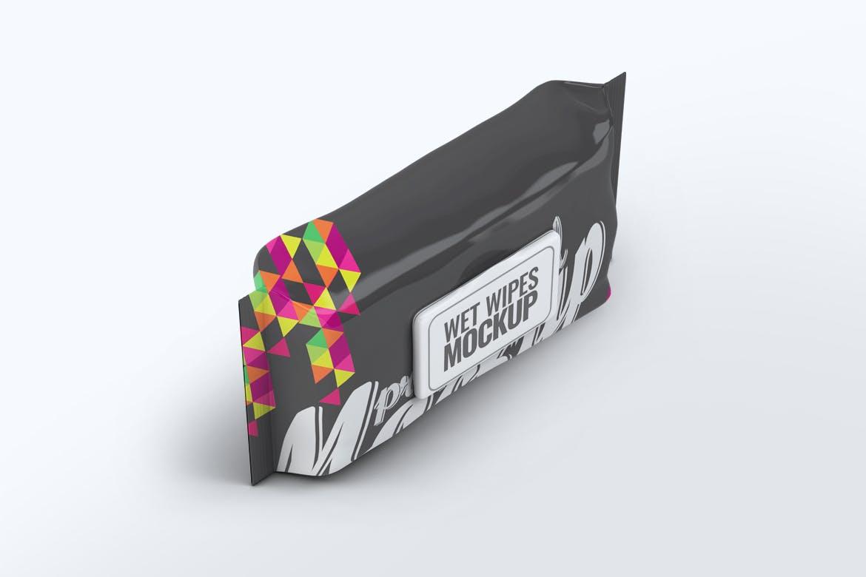 精致湿巾包装设计VI样机智能贴图wet-wipes-mock-up