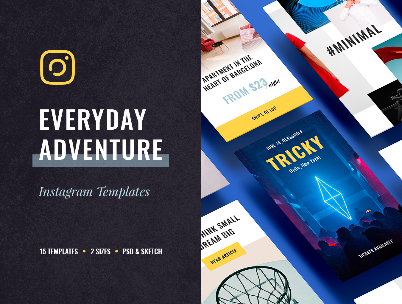 时尚简约风格APP Everyday Instagram Templates