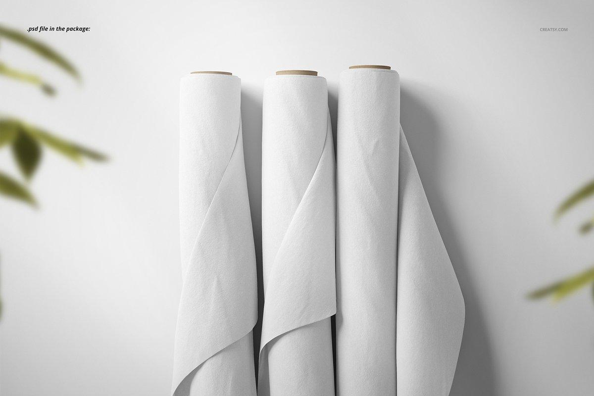 刺绣类面料图案花样设计智能贴图样机展示