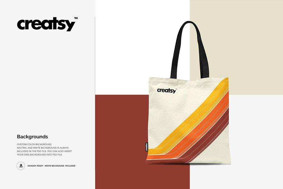 环保手提帆布袋挎设计样机智能贴图素材Tote Bag 2 Mockup - 1382168