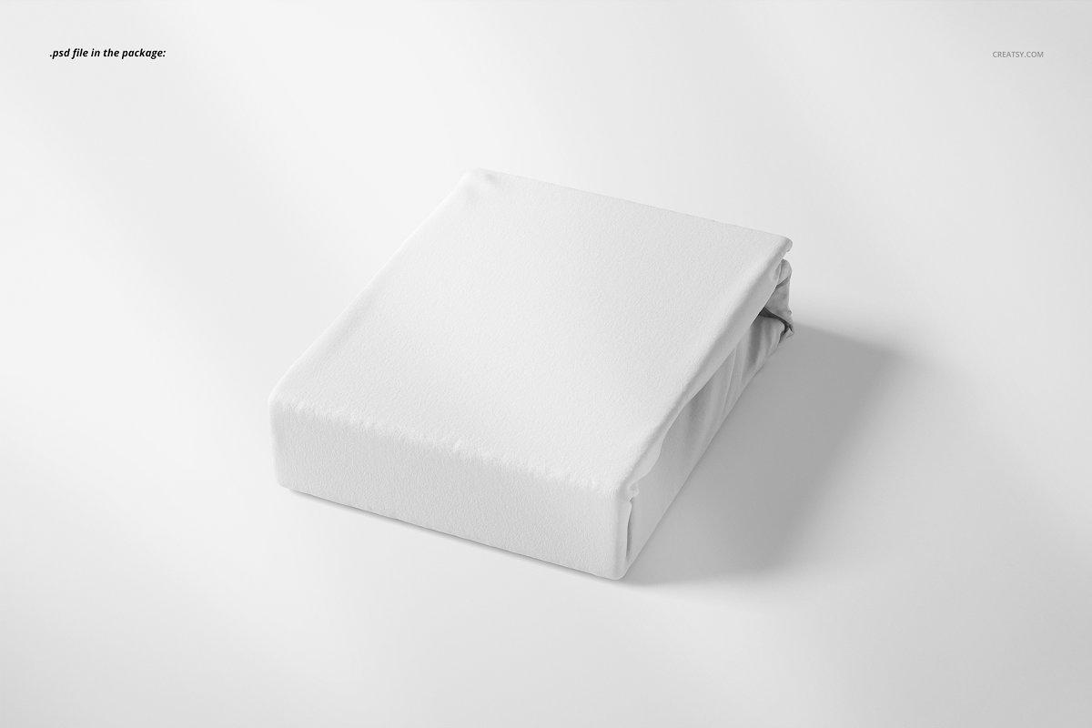 刺绣包装设计面料展示样机智能贴图样机展示Folded Fabric Mockup 59 FF v 6 3341432