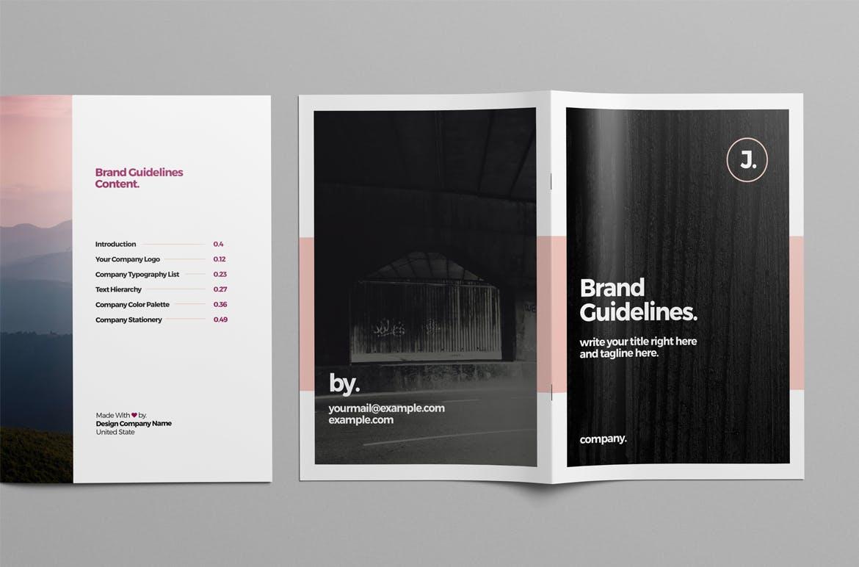 企业识别系统手册模板展示 Brand Guideline