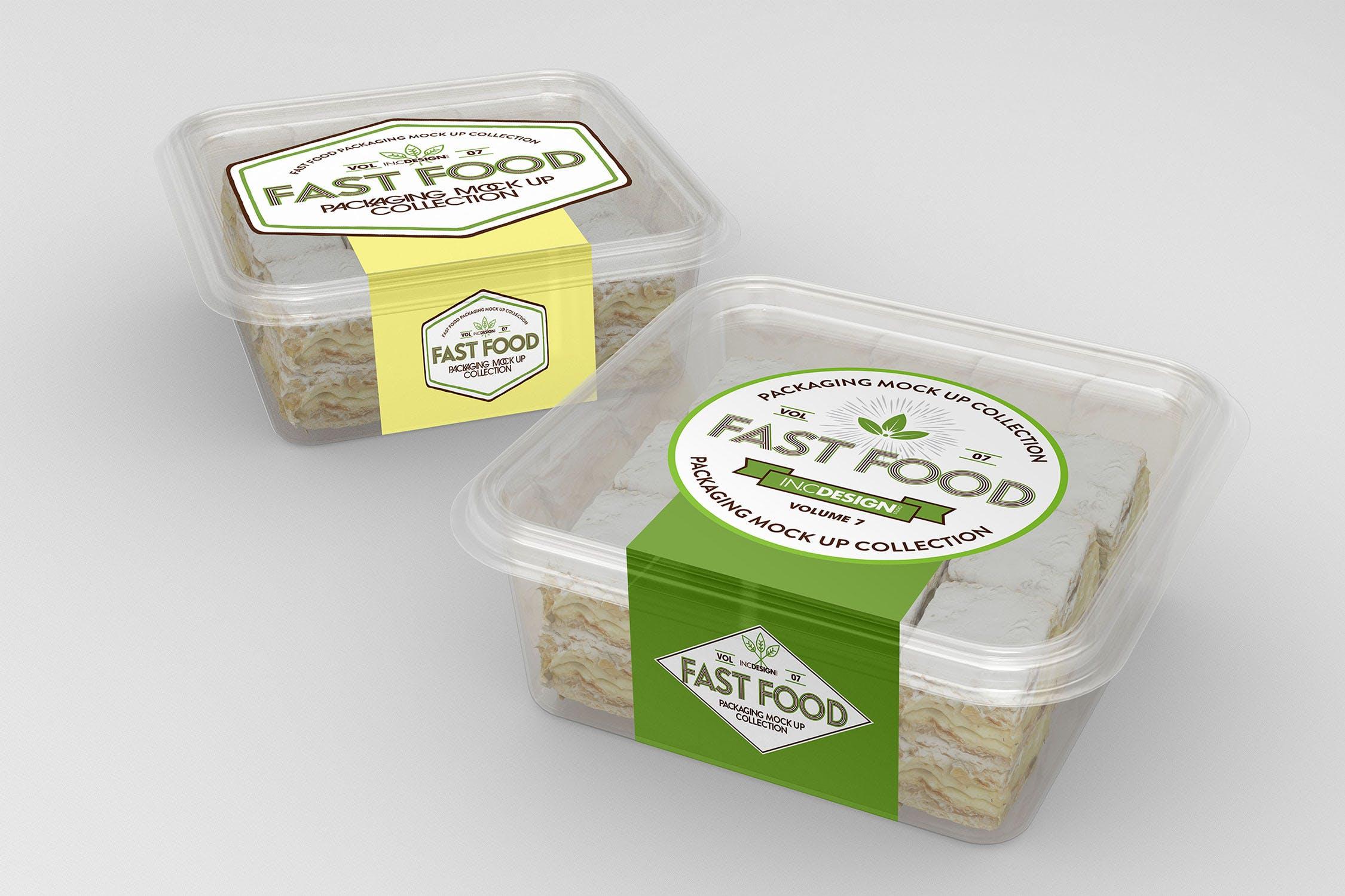 多品类快餐盒  甜点模板样机素材展示Fast Food Boxes Vol 7 Take Out Packaging Mockups插图(4)