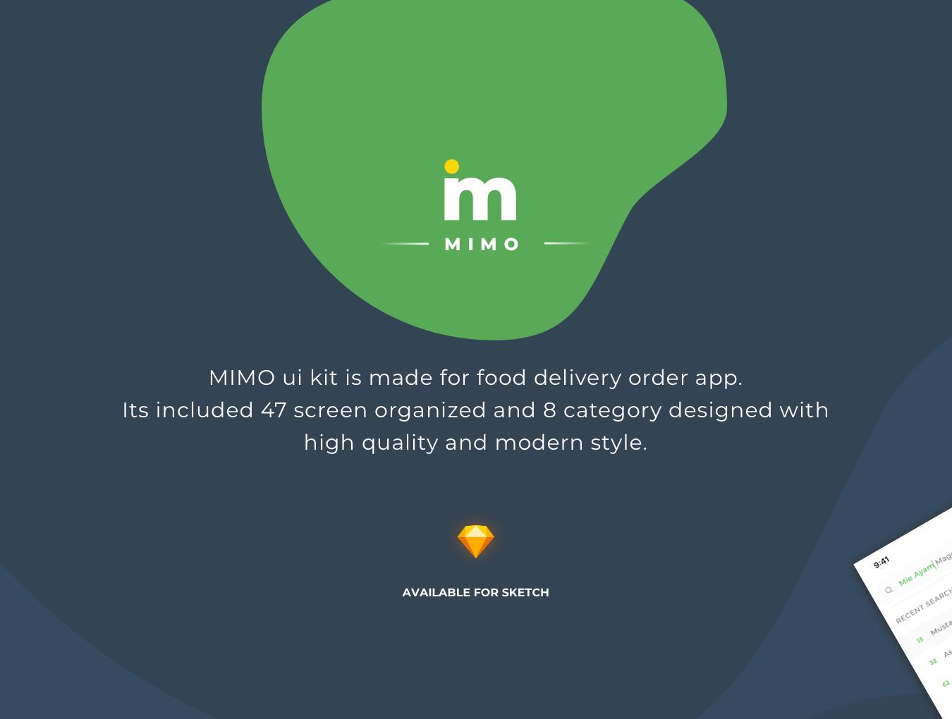 绿色简约风格餐饮行业APP MIMO UI Kit
