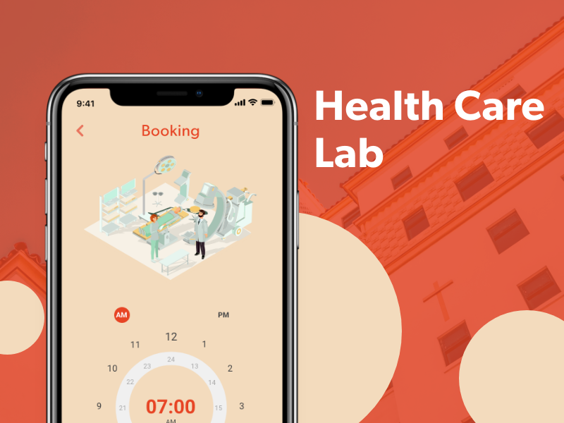 一款红色医疗卫生保健行业APP