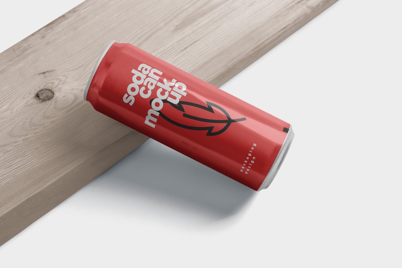 易拉罐 瓶酒饮料样机模板素材Slim Soda Can Mockups
