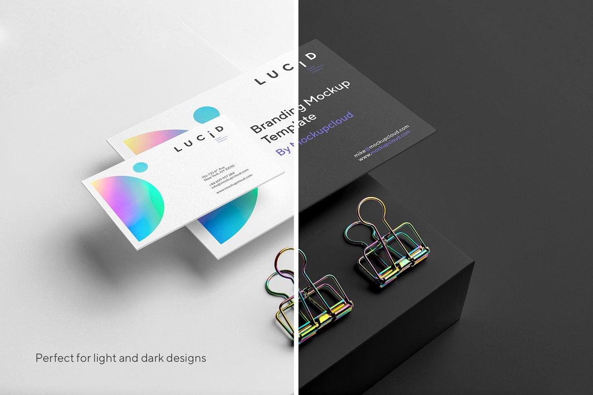 (精品)亚光版渐变配色品牌设计VI样机展示模型lucid-branding-mockup-vol-1
