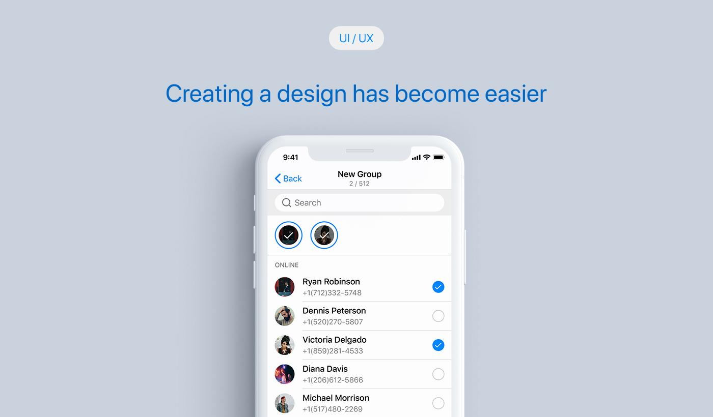 一款国外通讯行业Messenger iOS风格 UI