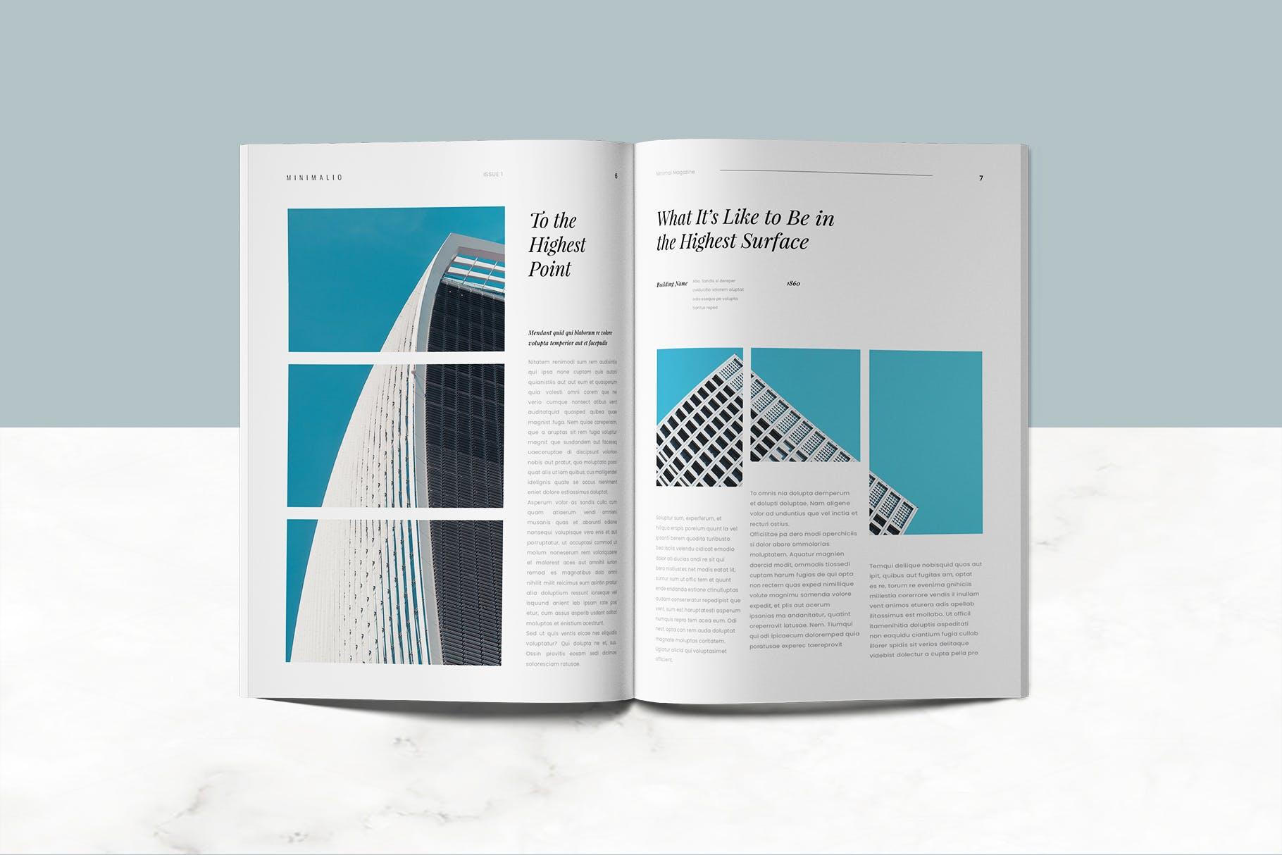 企业画册模板展示效果Minimalio Magazine