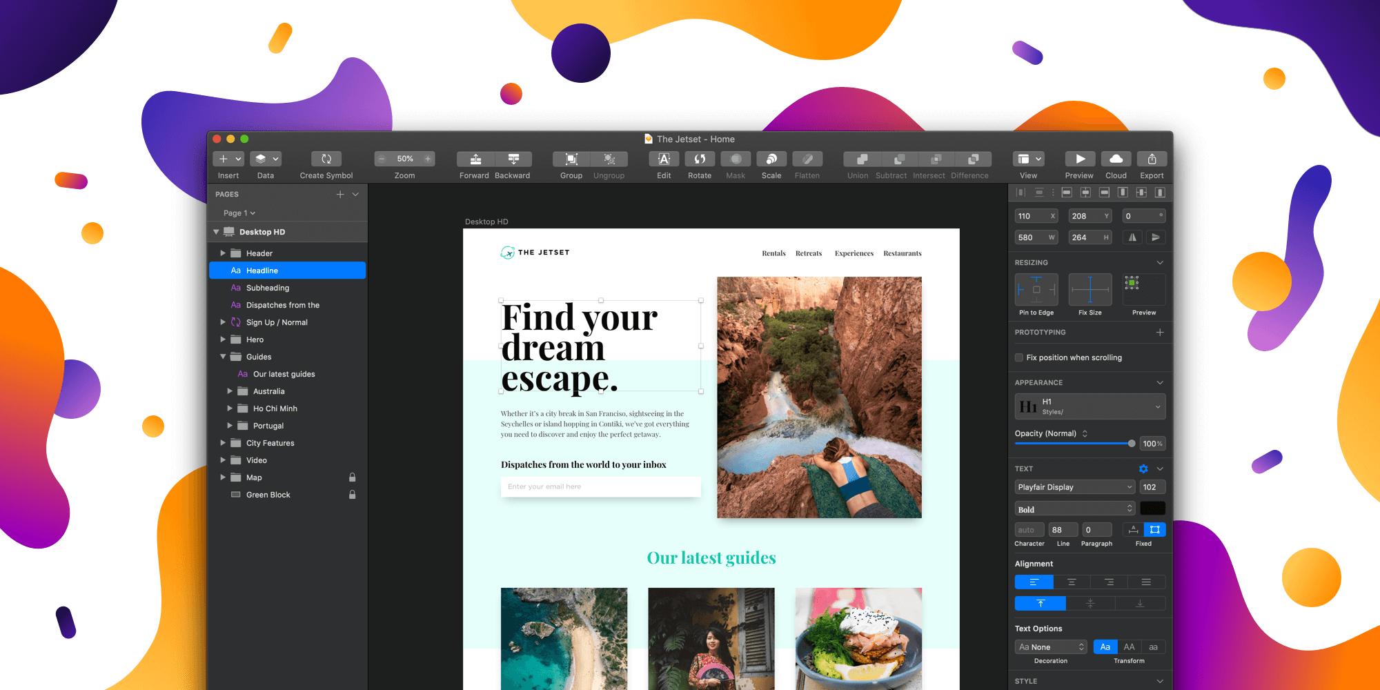 [MAC系统]Sketch55.2 – 最佳的APP和WEB UI设计工具   新增深色主题模式(最新中文破解版下载)