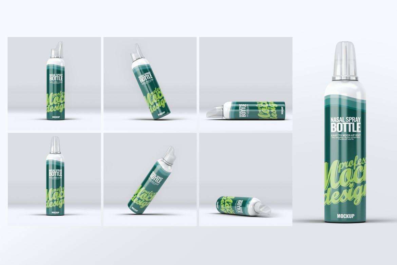 精致包装瓶鼻腔喷雾瓶模拟样机Nasal Spray Bottle Mock-Up