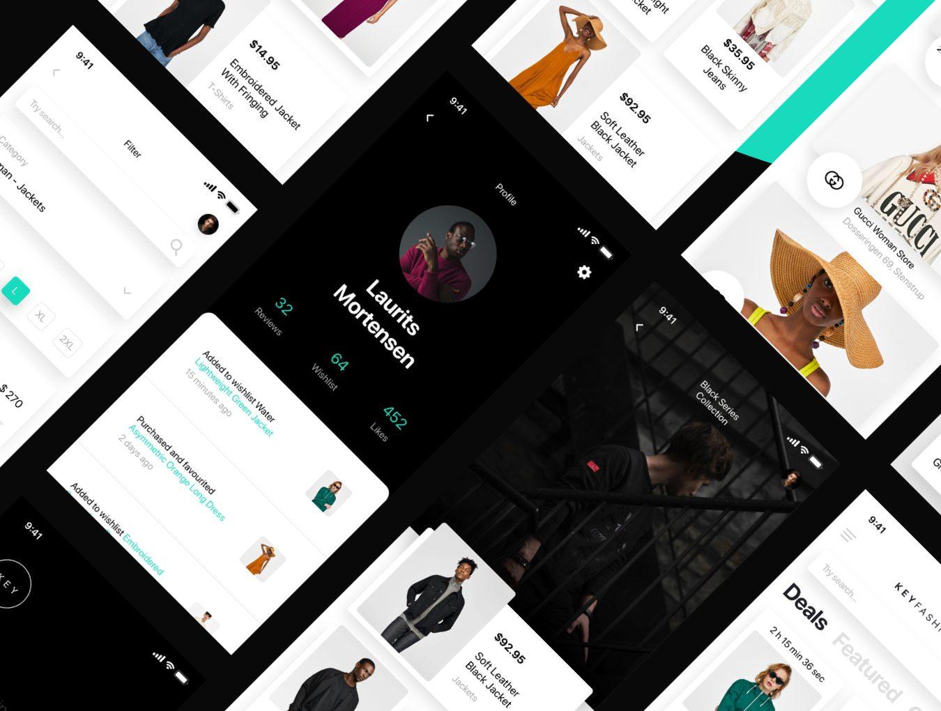 IOS11时尚简约风格服装行业APP KEY Fashion UI Kit