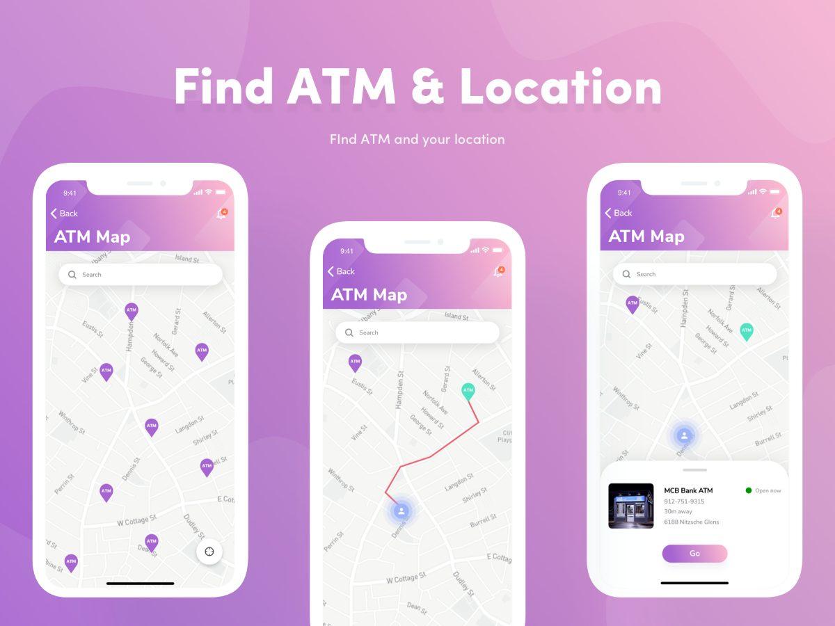 数字区块链货币钱包交易应用APP  界面素材
