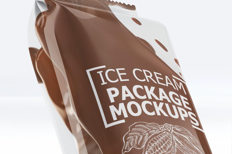 冷饮巧克力雪糕包装素材样机 Ice Cream Package Mock-Up