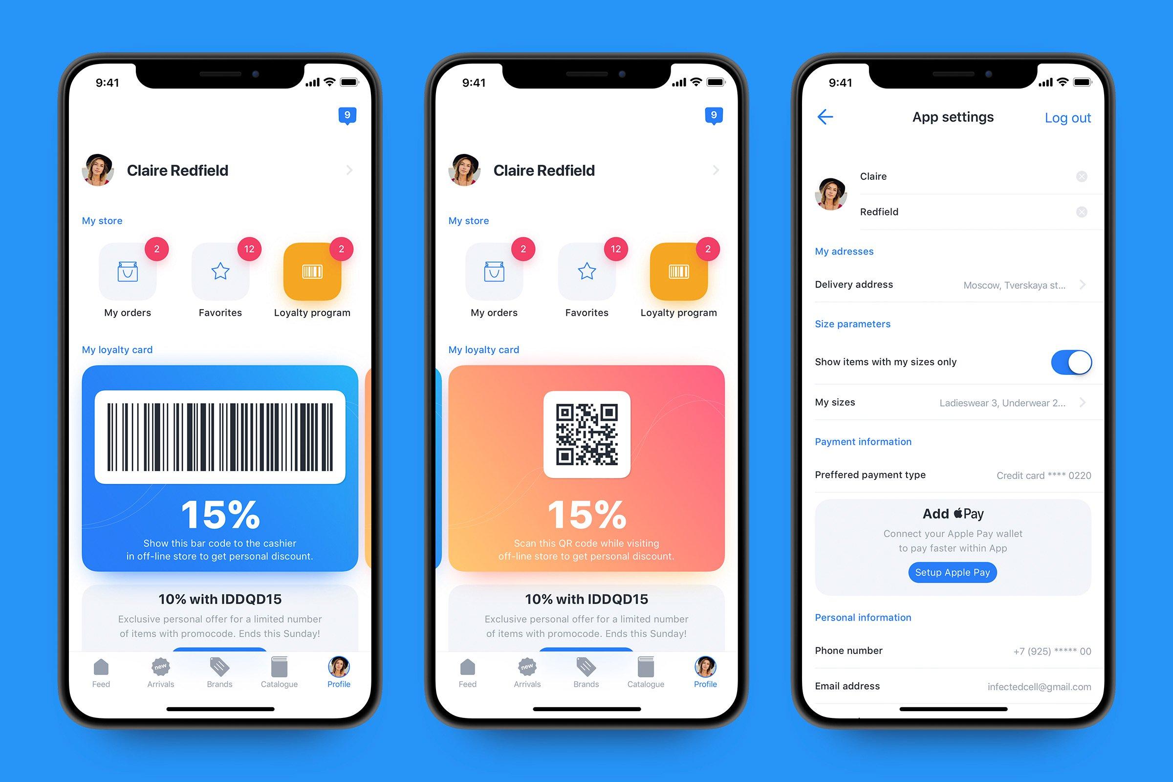 豪华电子商务iOS11风格 UI套件 Luxury e-commerce iOS UI kit – Set 2